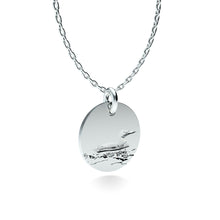 Load image into Gallery viewer, Rhodium Plated Silver Loon Pendant with 18'' Chain