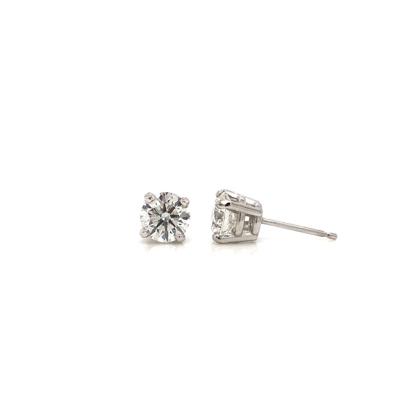 14KW Classic Diamond Stud Earrings 1.47ctw
