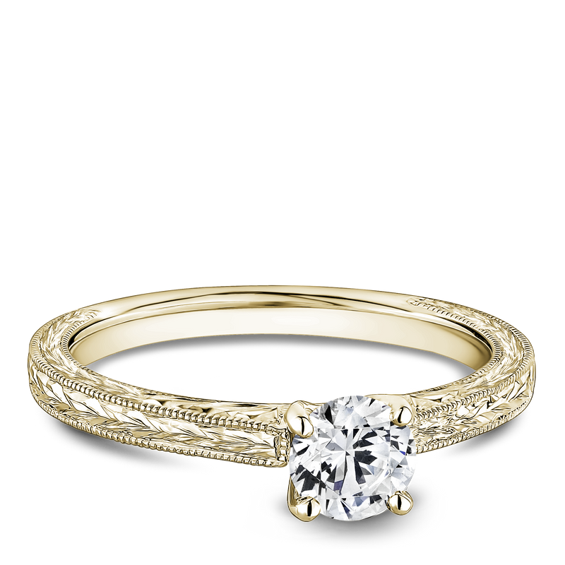 One Love Diamond Solitaire Engagement Ring In 14KY Vintage