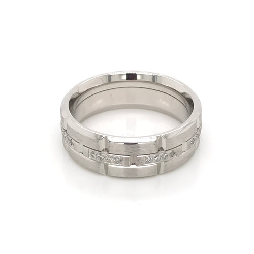 Platinum & Diamond Carlex Wedding Band