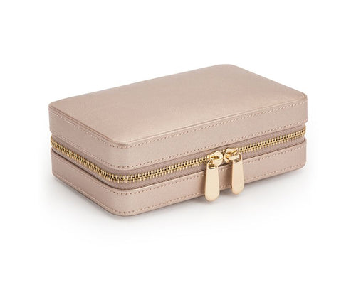 Wolf Palermo Zip Case - Rose Gold