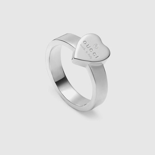 Gucci Sterling Ring With Trademark Heart