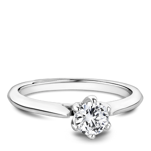 One Love Diamond Solitaire Engagement Ring In 14K White Gold