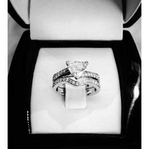 Custom Design Trillion Diamond Engagement Ring