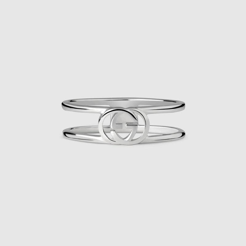 Gucci Silver 6mm Interlocking G Ring