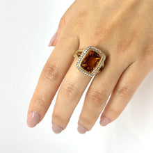 Load image into Gallery viewer, Yellow Gold Citrine and Spinel Statement Ring