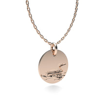 Load image into Gallery viewer, Rose Gold Plated Silver Loon Pendant with 18'' Chain