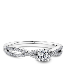 Load image into Gallery viewer, One Love Diamond Split Shank Engagement Ring In 14K White Gold