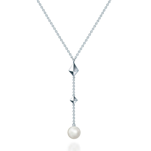 Birks Rock & Pearl Silver Drop Necklace