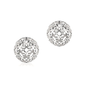 Birks Muse Sterling Ball Earrings