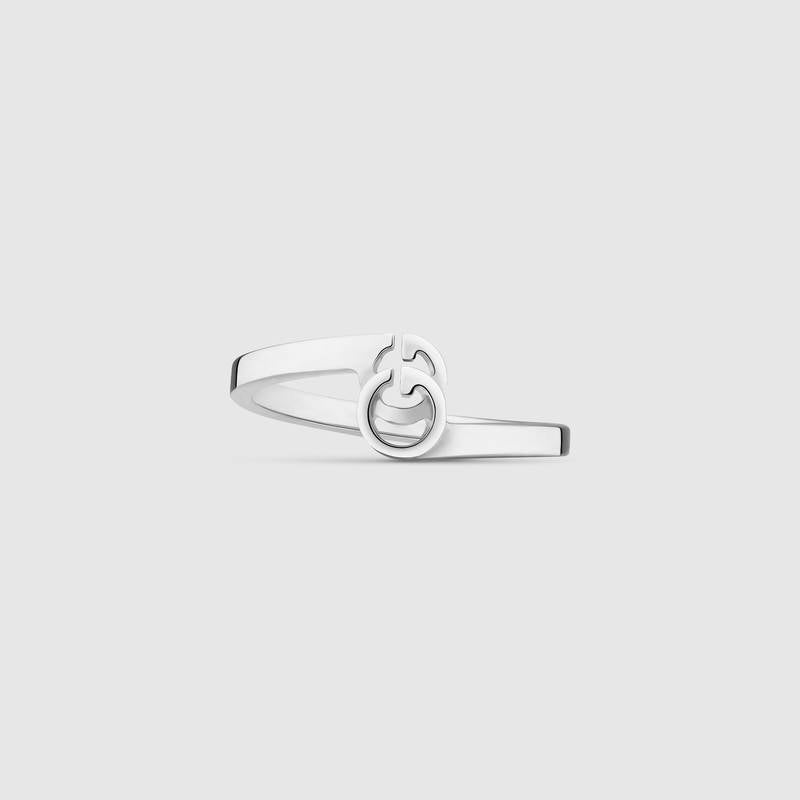 Gucci GG Running Ring In White Gold