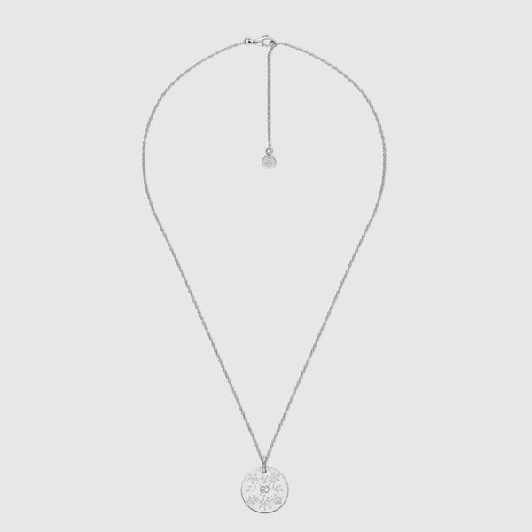 Gucci Icon Bloom Necklace In White Gold