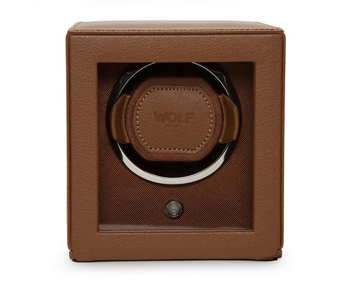 Wolf Cub Single Winder With Cover - Cognac