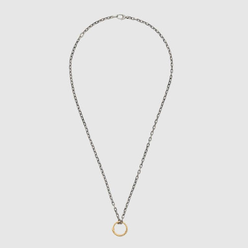 Gucci Snake Ring Pendant Necklace In Gold