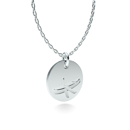 Rhodium Plated Silver Canoe Pendant with 18'' Chain *PRE-ORDER NOW*