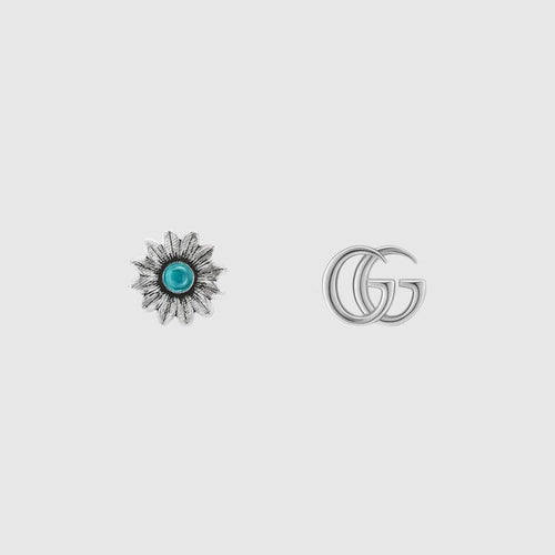 Gucci Double G Flower Stud Earrings