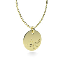 Load image into Gallery viewer, Yellow Gold Plated Silver Canoe Pendant with 18'' Chain