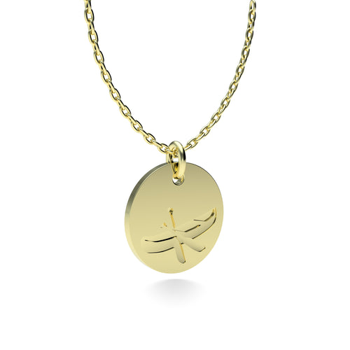 Yellow Gold Plated Silver Canoe Pendant with 18'' Chain *PRE-ORDER NOW*