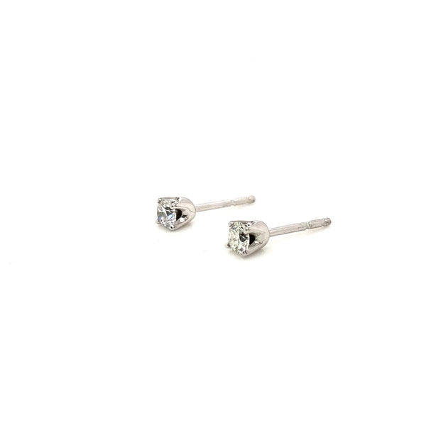 14KW Diamond Stud Earrings 0.25ctw
