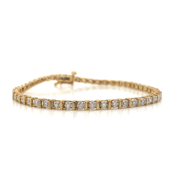 10KY Diamond Tennis Bracelet 0.50ctw