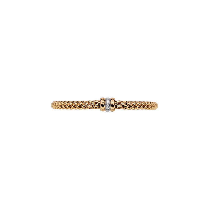 Fope Solo Bracelet In 18KY With Diamond Rondel