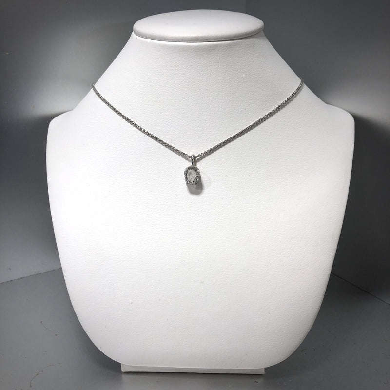 18KW Canadian Diamond Pendant With A 1.13ct Rough Diamond (Chain Included)
