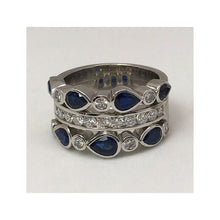 Load image into Gallery viewer, Custom Design Sapphire & Diamond Dinner Ring