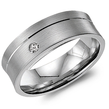 Load image into Gallery viewer, 14K White Gold 8mm Men's Wedding Ring