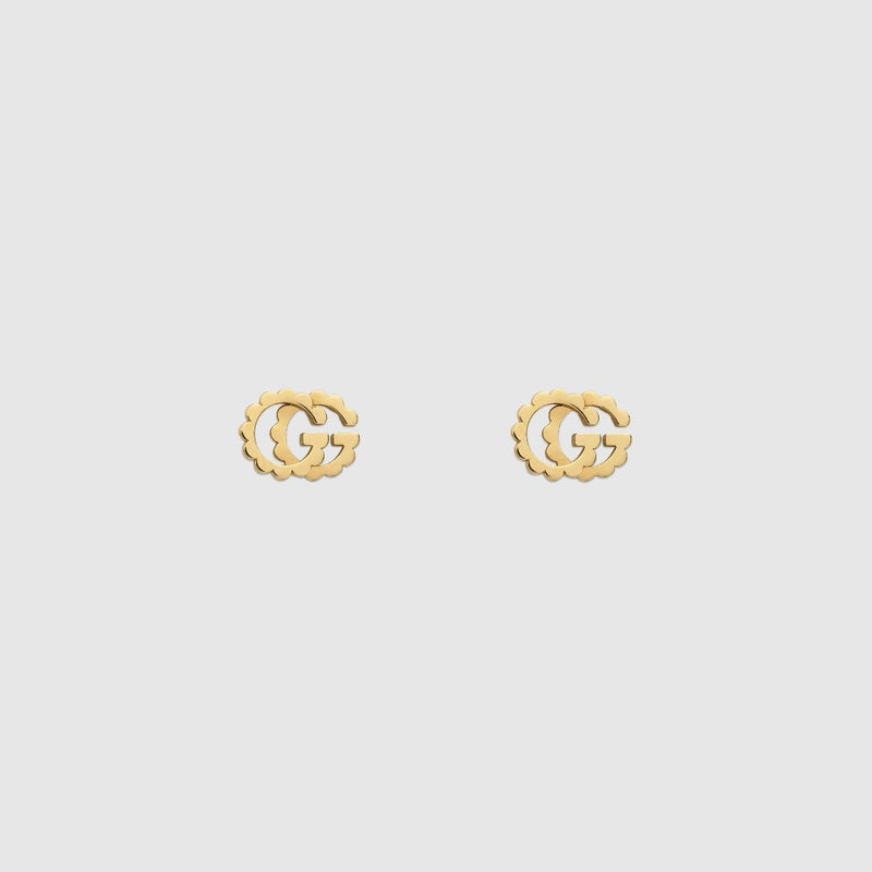 Gucci 18KY Running G Earrings