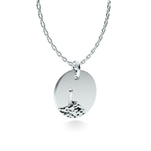Load image into Gallery viewer, Rhodium Plated Silver Lighthouse Pendant with 18'' Chain *PRE-ORDER NOW*