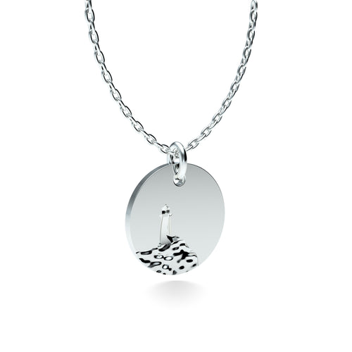 Rhodium Plated Silver Lighthouse Pendant with 18'' Chain *PRE-ORDER NOW*
