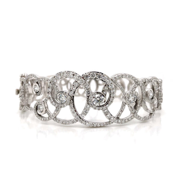 14KW Diamond Circle Bracelet 3.77ctw