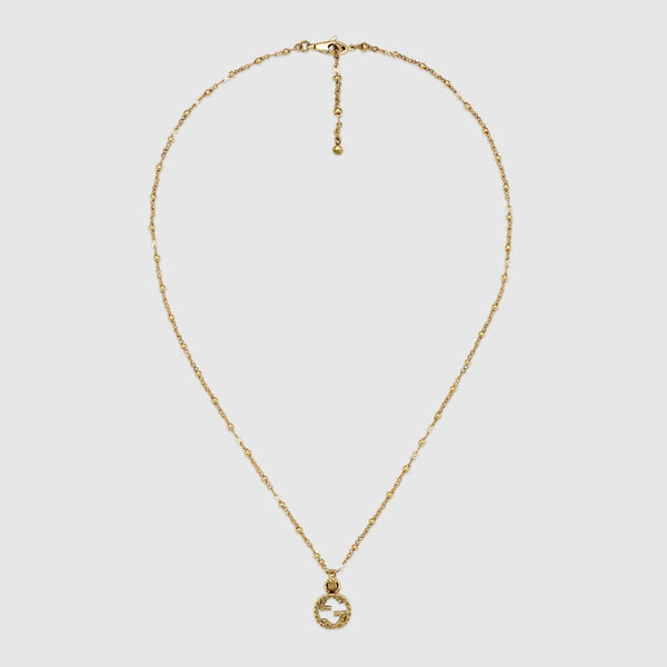 Gucci 18K Yellow Interlocking G Necklace