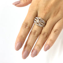 Load image into Gallery viewer, White and Rose Gold Multi Band Diamond Ring