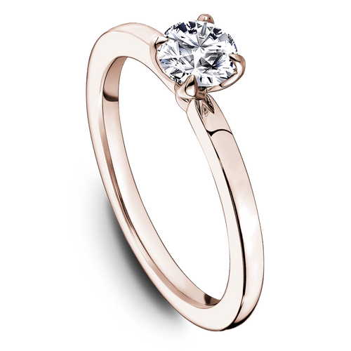 One Love Diamond Solitaire Engagement Ring In 14K Rose Gold