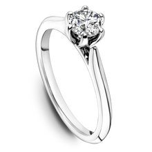 Load image into Gallery viewer, One Love Diamond Solitaire Engagement Ring In 14K White Gold