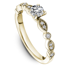 Load image into Gallery viewer, One Love Diamond Engagement Ring In 14KY With Milgrain Edges