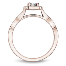 Load image into Gallery viewer, One Love Diamond Halo Engagement Ring In 14KR With Milgrain