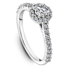 Load image into Gallery viewer, One Love Diamond Halo Engagement Ring In 14K White Gold