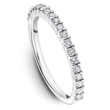 One Love Diamond Halo Engagement Ring In 14K White Gold