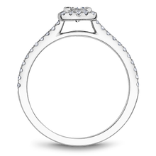 Load image into Gallery viewer, One Love Diamond Square Halo Engagement Ring In 14K White Gold