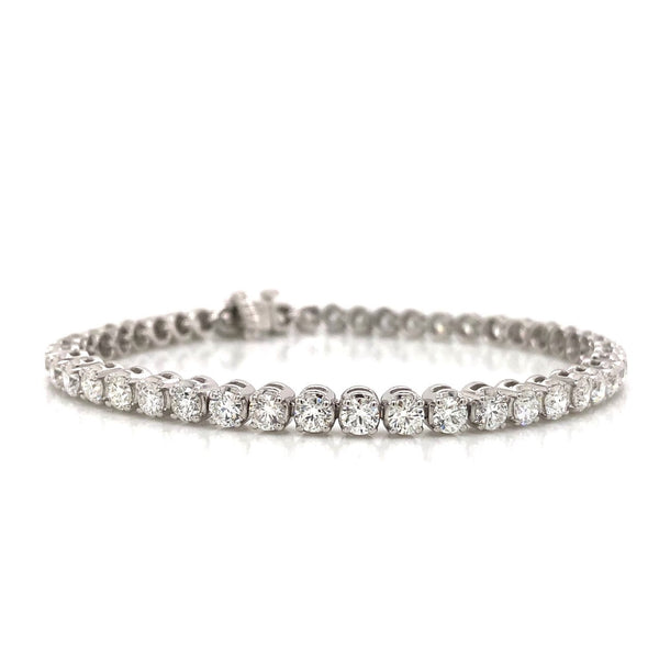 14KW Diamond Tennis Bracelet 6.02ctw