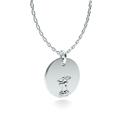 Rhodium Plated Silver Inukshuk Pendant with 18'' Chain *PRE-ORDER NOW*