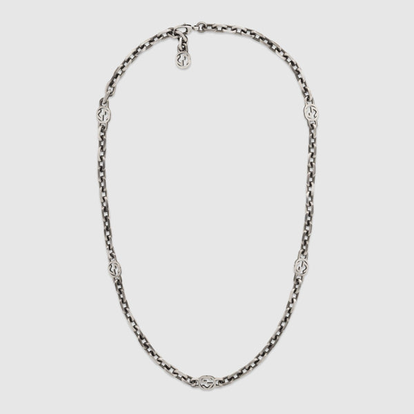 "Gucci Silver 23.5"" Necklace"