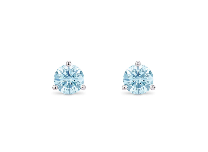 Lightbox Jewelry 10KW Studs 1ctw Blue