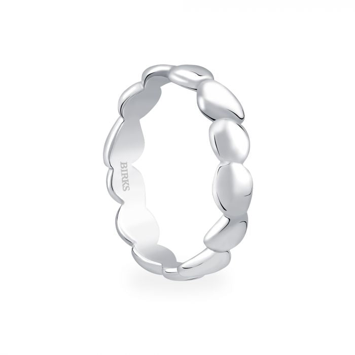 Birks Silver Pebble Stackable Ring