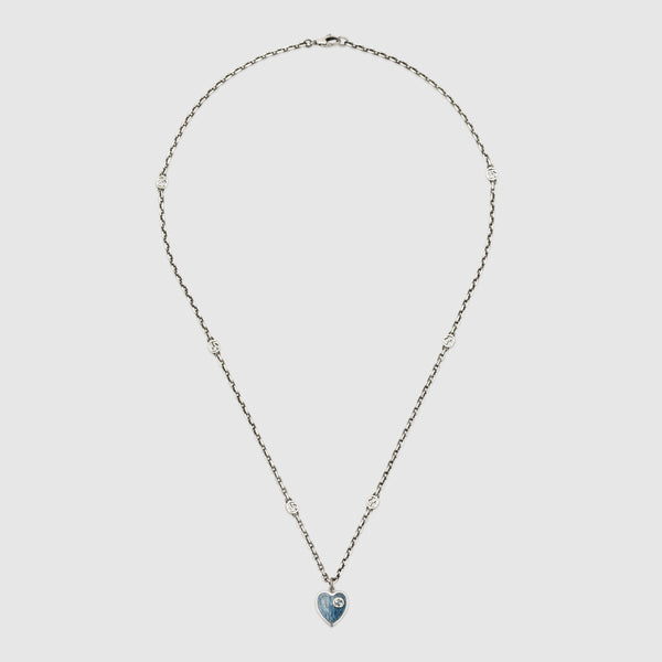 Gucci Silver Heart Necklace