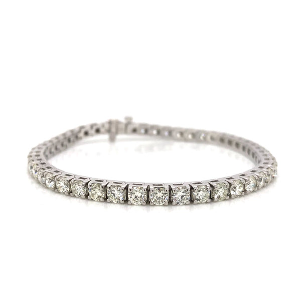 14KW Diamond Tennis Bracelet 8.00ctw
