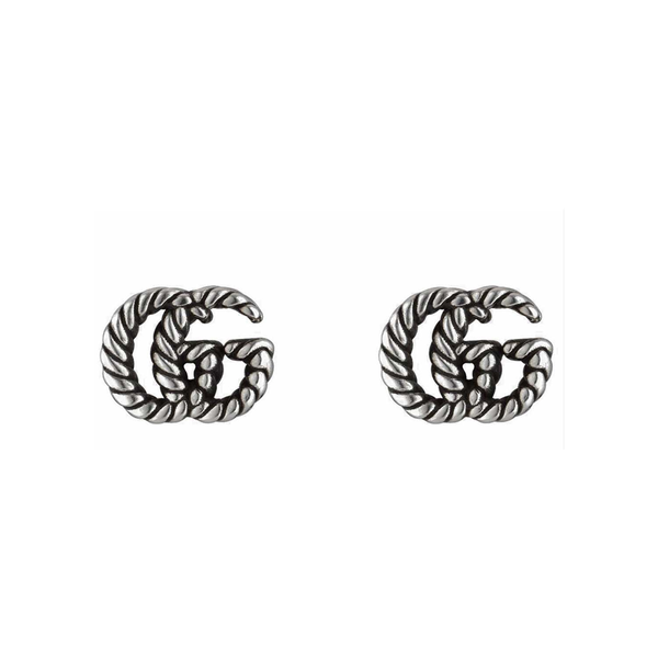 Gucci Silver GG Marmont Earrings
