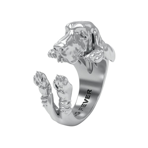 Dog Fever Basset Hound Hug Ring